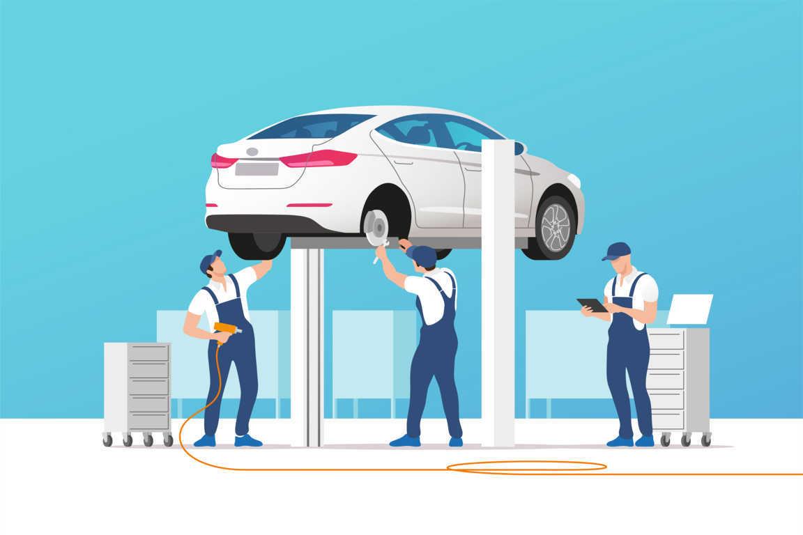 Los talleres de reparación de vehículos en pleno apogeo